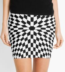 #black #white #checkered #chess #pattern #abstract #flag #floor #square #checker #board #chessboard #texture #check #design #race #illustration #squares #tile #racing #game  #checked #tiles #geometric Mini Skirt