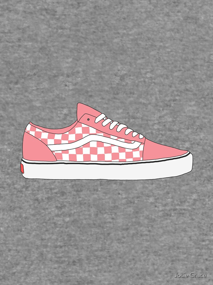4a90f669651 Pink Checkered Vans Old Skool Shoes