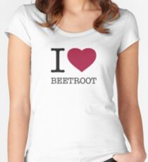 I ♥ BEETROOT Women's Fitted Scoop T-Shirt