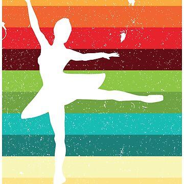Retro Ballerina Ballet Vintage 90s by kamrankhan
