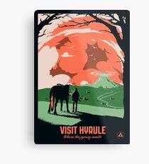 Visit Hyrule Metal Print