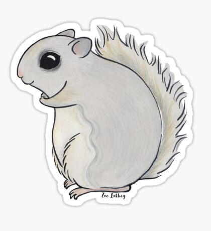 Japanese Squirrel Sticker