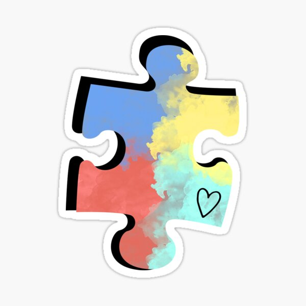 Autism Puzzle Piece Sticker