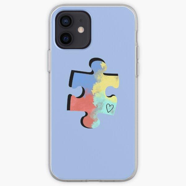 Autism Puzzle Piece iPhone Soft Case