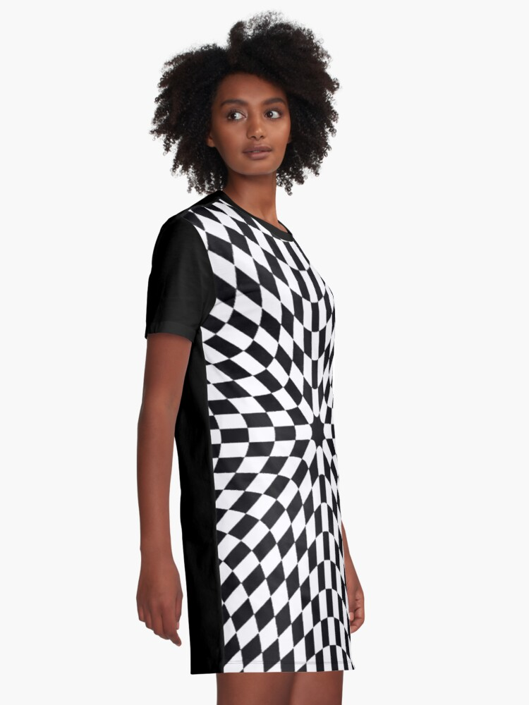 Alternate view of #metal #pattern #texture #abstract #steel #metallic #black #grid #hole #mesh #iron #design #textured #wallpaper #surface #gray #technology #material #backgrounds #round #seamless #circle #backdrop Graphic T-Shirt Dress