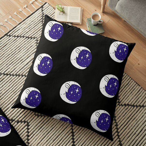 Sleeping Moon - Celestial Moon  Floor Pillow