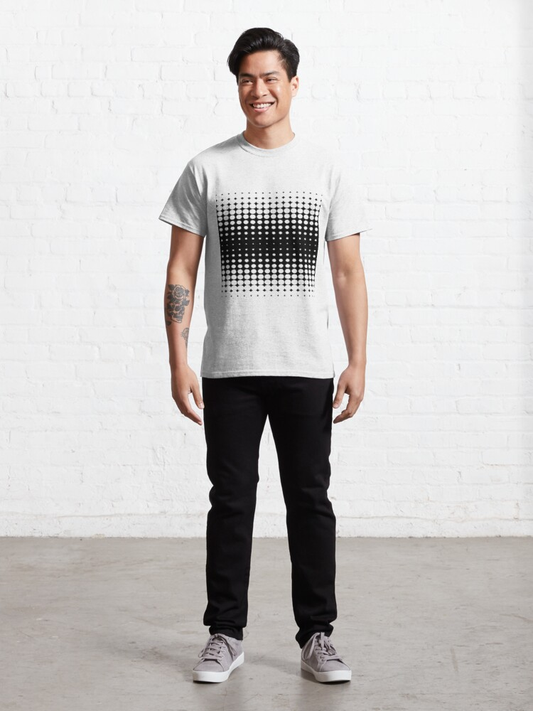 Alternate view of #metal #pattern #texture #abstract #steel #metallic #black #grid #hole #mesh #iron #design #textured #wallpaper #surface #gray #technology #material #backgrounds #round #seamless #circle #backdrop Classic T-Shirt