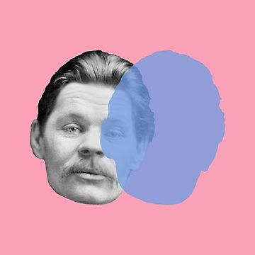 Maxim Gorky portrait - pop pink blue by savantdesigns