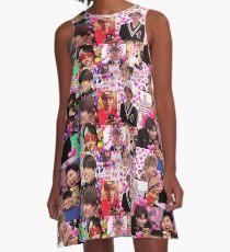 BTS UWU gesunde Meme Collage A-Linien Kleid