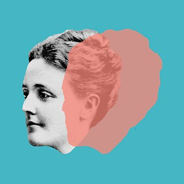 Sarah Orne Jewett portrait - pop teal orange blue green by savantdesigns