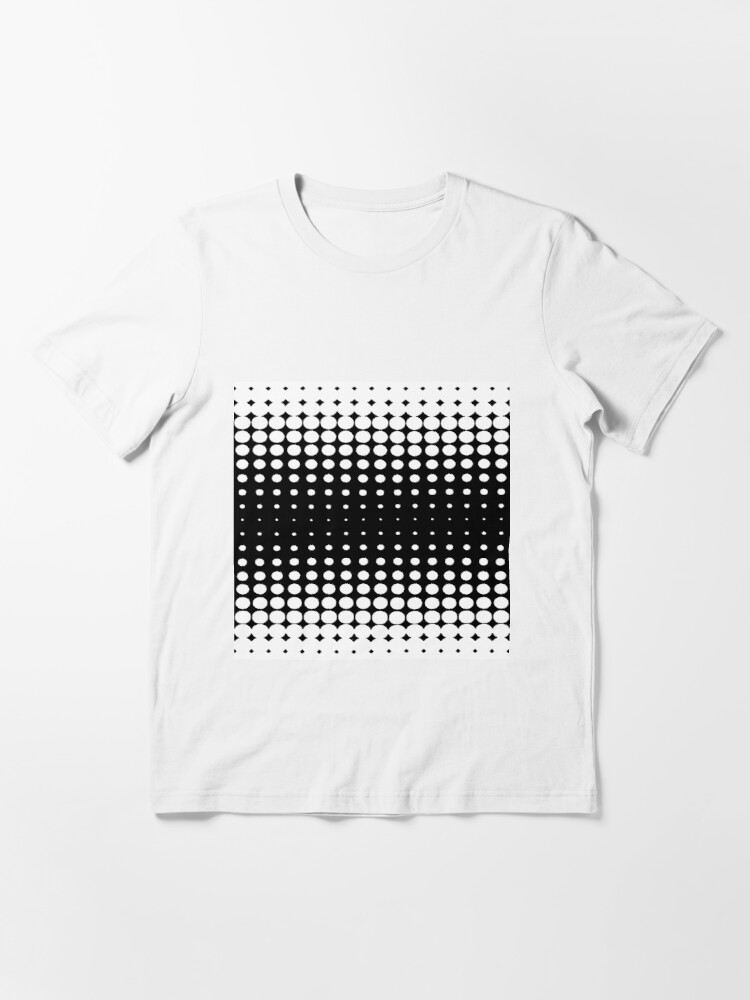 Alternate view of #metal #pattern #texture #abstract #steel #metallic #black #grid #hole #mesh #iron #design #textured #wallpaper #surface #gray #technology #material #backgrounds #round #seamless #circle #backdrop Essential T-Shirt