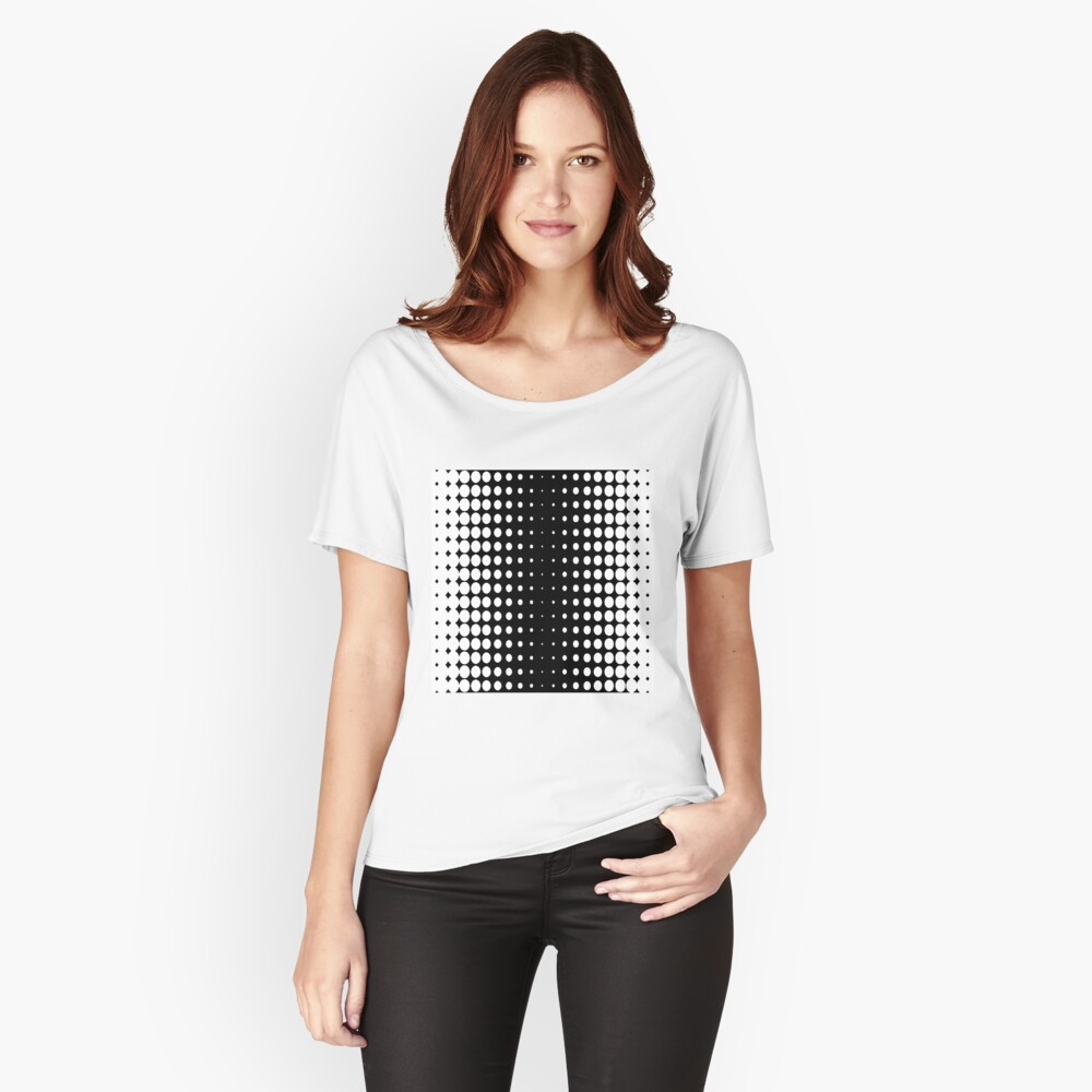 #metal #pattern #texture #abstract #steel #metallic #black #grid #hole #mesh #iron #design #textured #wallpaper #surface #gray #technology #material #backgrounds #round #seamless #circle #backdrop Relaxed Fit T-Shirt