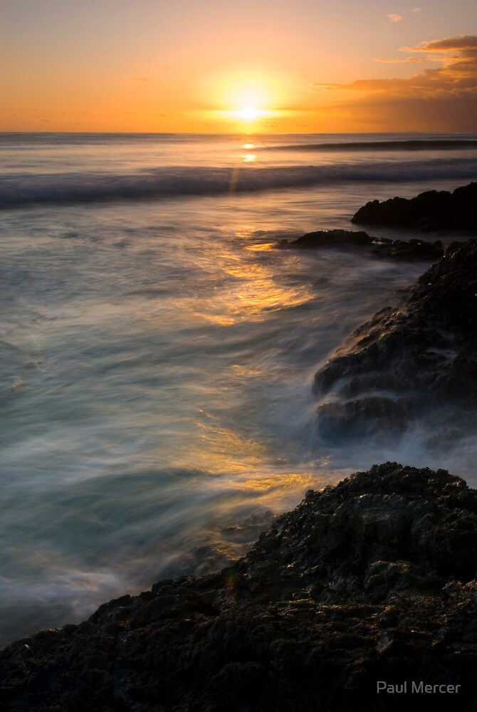 Rarawa beach sunrise 1 by Paul Mercer
