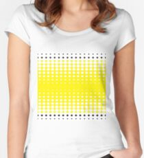 #pattern #abstract #texture #yellow #design #honeycomb #orange #wallpaper #honey #color #backdrop #illustration #bee #grid #backgrounds #textured #dot #hexagon #gold #art #metal #macro #seamless  Women's Fitted Scoop T-Shirt