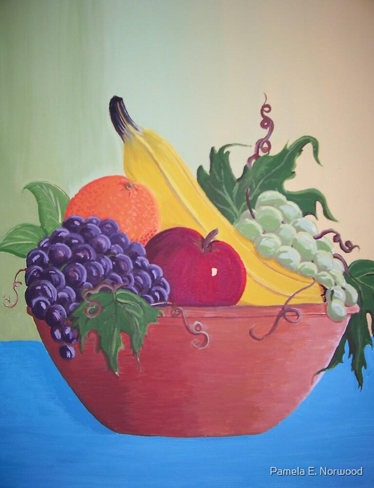 Still life fruit bowl by Pamela E. Norwood