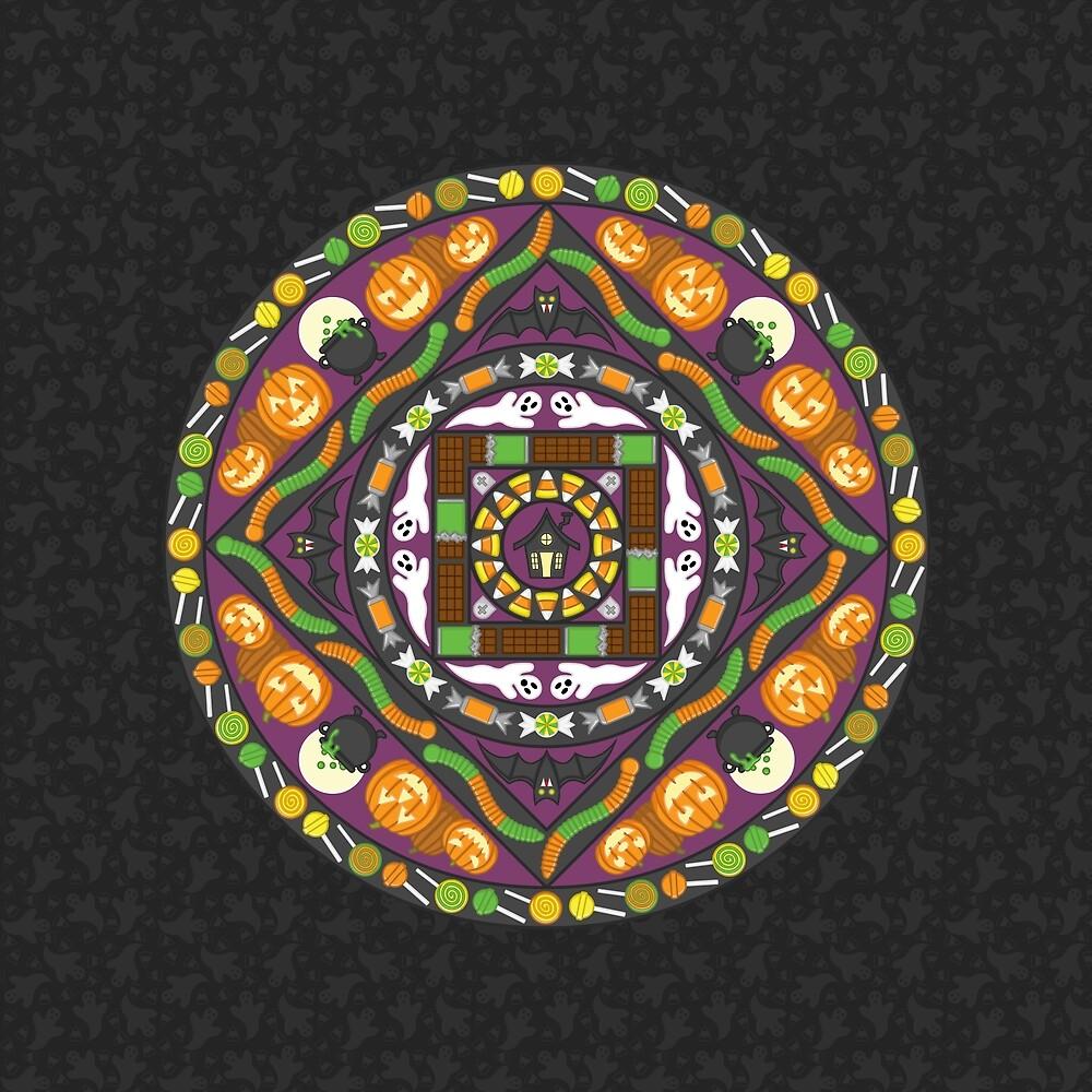 Tricks and Treats Mandala by Valerie Bennett