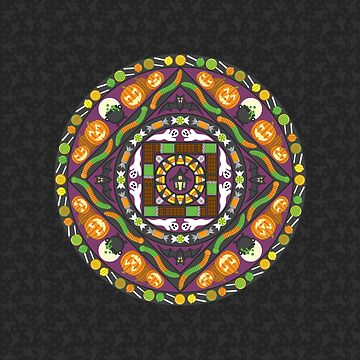 Tricks and Treats Mandala by ValerieDesigns