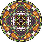 Tricks and Treats Mandala by Valerie Hartley Bennett