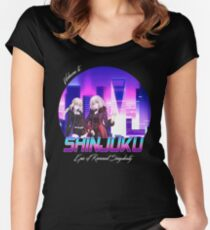 Vaporwave - Jeanne alter and Saber Alter Shinjuku Women's Fitted Scoop T-Shirt