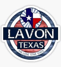 Lavon Texas rustic wood circle Sticker