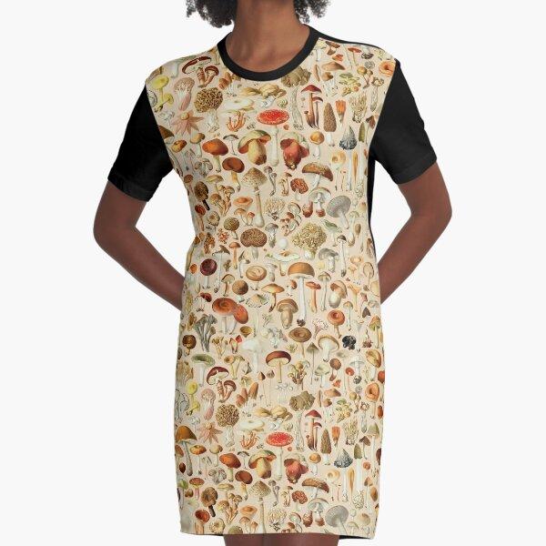 Vintage Mushroom Designs Collection Graphic T-Shirt Dress