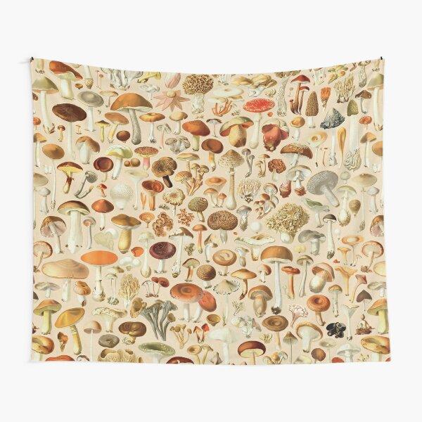 Vintage Mushroom Designs Collection Tapestry