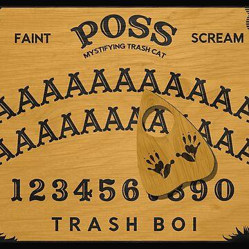 Possum Oujia Board - Mystifying Trash Cat Funny Opossum by boypilot
