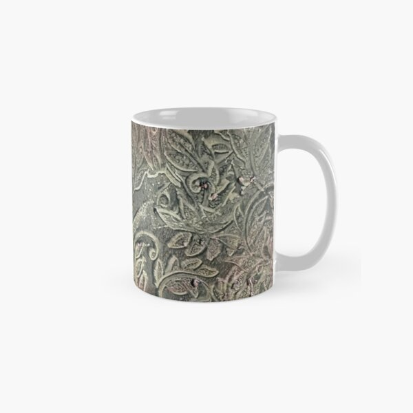 Leafy Abstract - Distressed Look Classic Mug