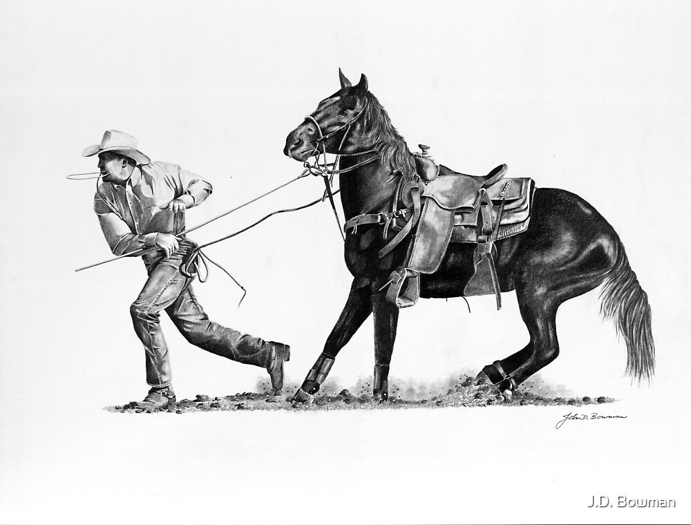 Rodeo Calf Roper by J.D. Bowman