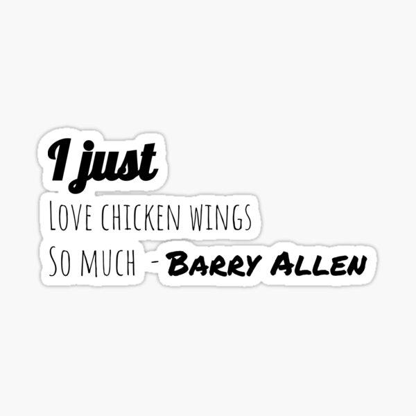 Me encantan las Alas de pollo tanto - Barry Allen Pegatina