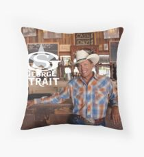 george strait cowboy las vegas duapuluh Throw Pillow