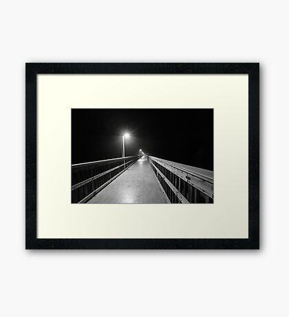 lonely pier walk Framed Print