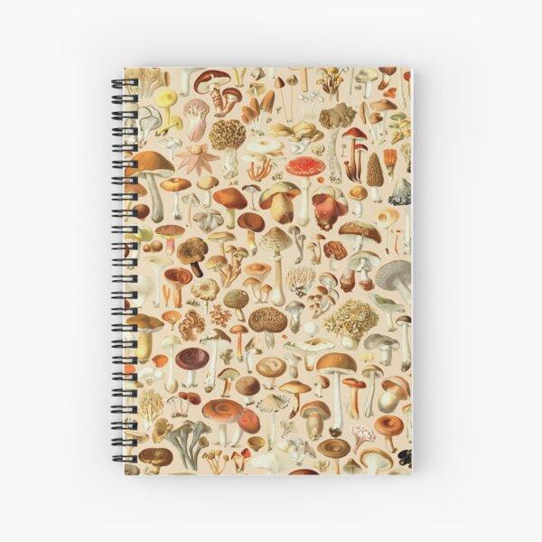 Vintage Mushroom Designs Collection Spiral Notebook