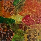 Abstract Fall print  by Melissa Brauen