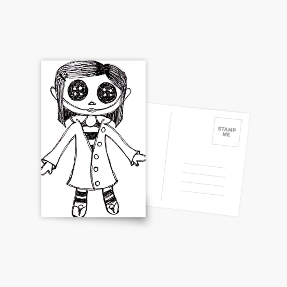 Coraline Doll Greeting Card By Calypso Skys Redbubble