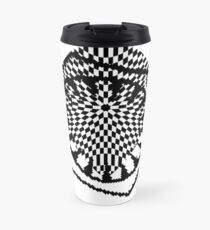 #white #black #abstract #pattern #3d #texture #checkered #illustration #arrow #design #cursor #isolated #flag #pixel #computer #icon #tile #square #symbol #graphic #mouse #concept #perspective Travel Mug