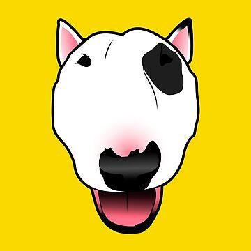 Bull Terrier Face by MarylinRam18