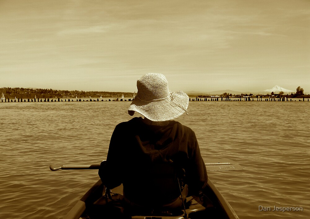 Boating the Lady Upstream by Dan Jesperson