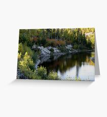 Gravel River Hwy 17 NW Ontario Greeting Card
