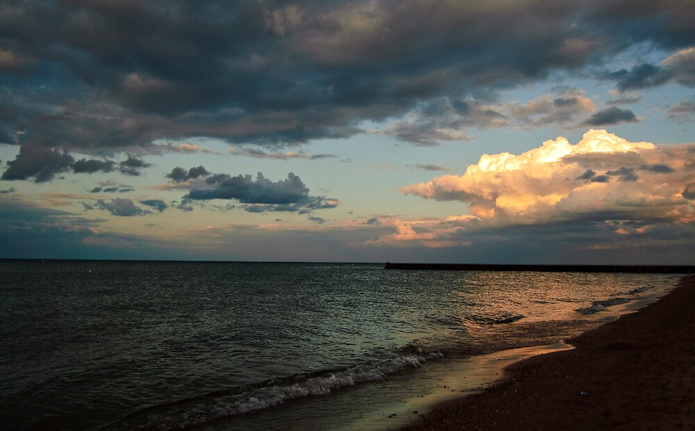 evening at the beach by afsan a