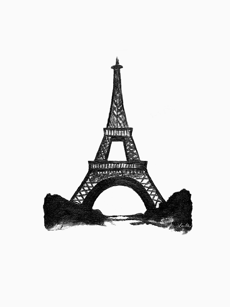 Eiffel Tower in Black by travelle