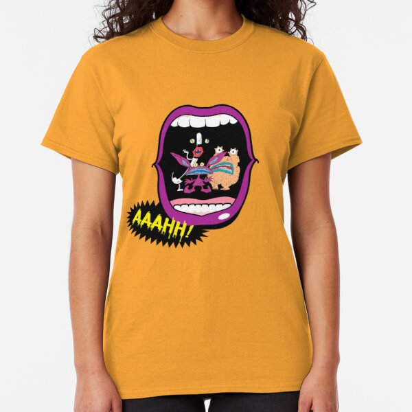 Real Monsters Halloween 90's Retro Nostalgia Scary Show  Classic T-Shirt