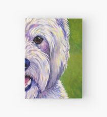 Colorful West Highland White Terrier Dog Hardcover Journal