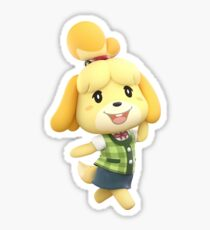 Pegatina Isabelle (Super Smash Bros Ultimate)