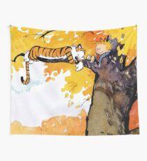 calvin n hobbes sleep Wall Tapestry