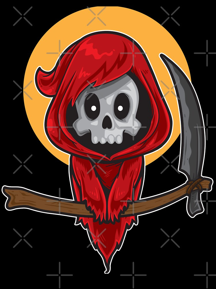 The Dark Reaper Shirt Roblox Cute Red Grim Reaper Kids T Shirt By Yorkx Redbubble