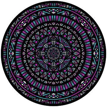 Pink and Blue Mandala by bobblehead1337