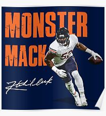 Khalil Mack Chicago Bears Monster of the Midway  Poster
