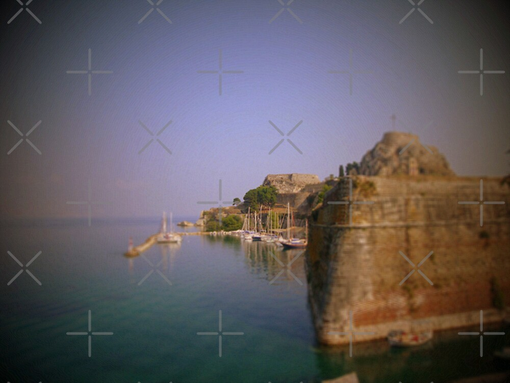 The Old Fort with the Marina ....Corfu Town Greece by fruitcake