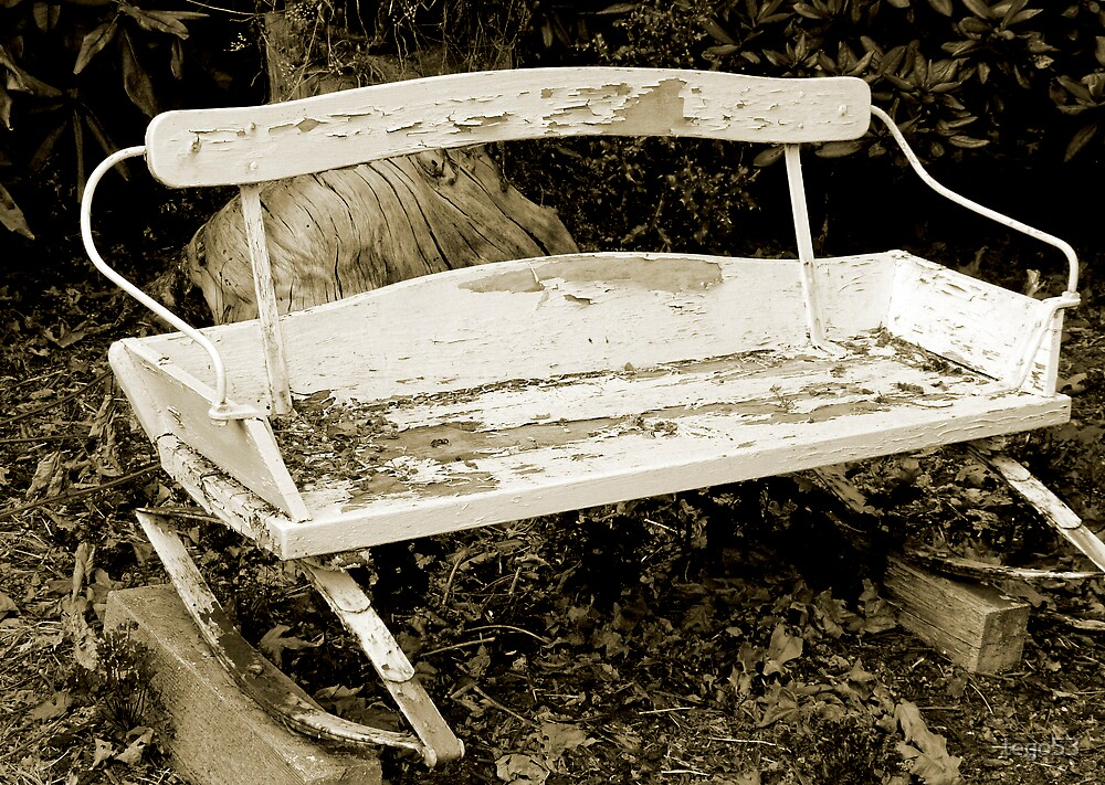 rustic garden bench by tego53